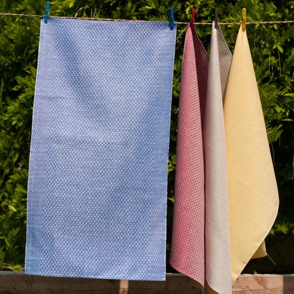 Handtücher Gerstenkorn blau, rot, natur, gelb --- auch in weiß, oliv und anthrazit